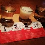 New Instagram: sake flight.. interesting.. not a fan of sake, but good experience