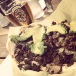 New Instagram: phat philly's, hella good cheesesteak. avo, bacon, bell peppers, mushroom, provalone