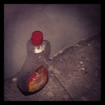 New Instagram: so by leaving your unfinished bottle of syrup on the street corner are you trying to be generous and let anyone interested pick it up?