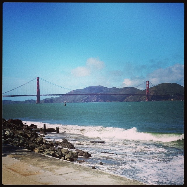 New Instagram Goldengatebridge From One More Angle SanFrancisco Sunny Beach