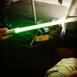 New Instagram: i got sent a light saber… and it's actually pretty cool #starwars #light #saber #scifi #nerdy #cool #toys