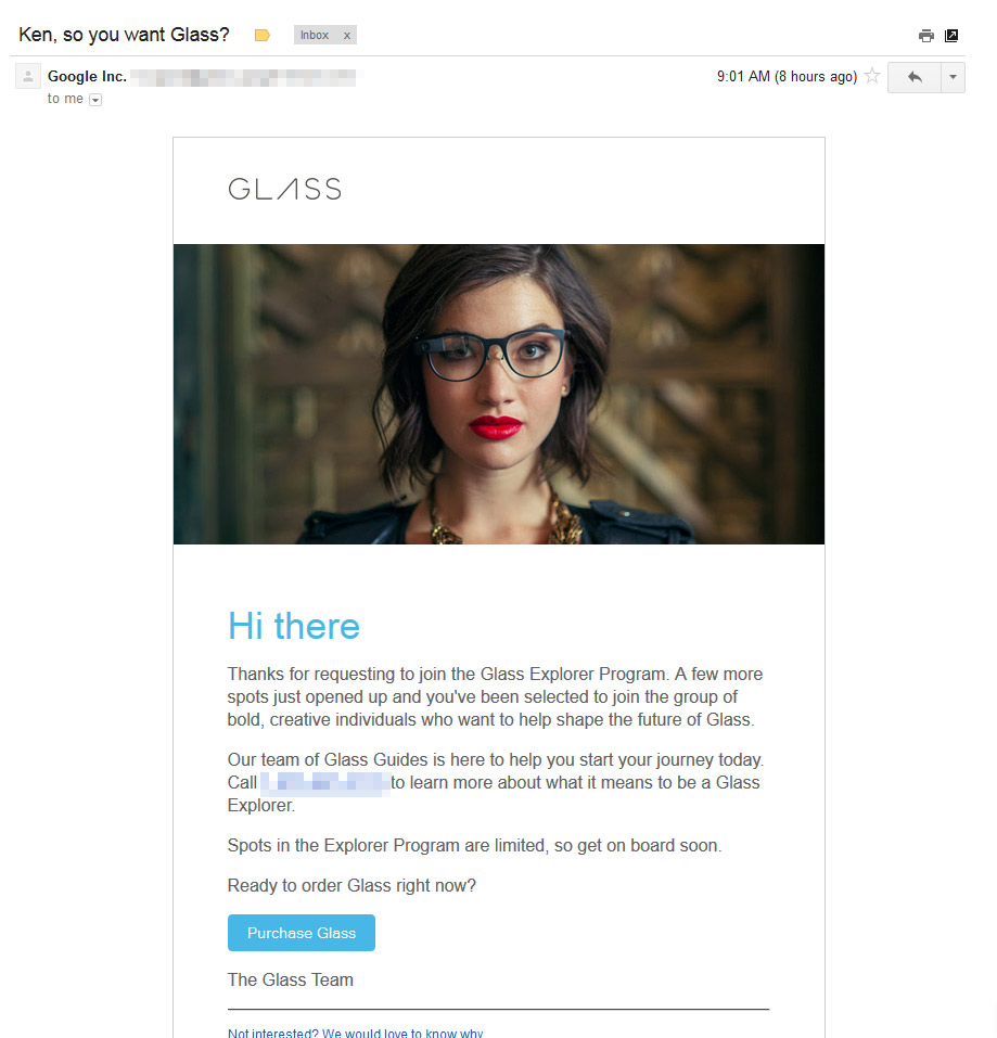 Google Glass Email