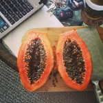 New Instagram: #papaya #木瓜 #水果 #好吃 #nomnom #fruit #tasty