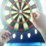 New Instagram: bullseye through #google #glass #darts #throughglass