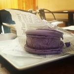 New Instagram: one of the best desserts I've had in a long time! taro macaroon ice cream sandwich! #icecream #dessert #taro #nomnom #foodporn #haciendaheights #california #LA #socal #好吃 #美食 #冰激淋 #洛杉磯 #加州 #美國