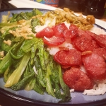 New Instagram: 我做的 #A菜 + #台式 #香腸 + #酸菜筍 + #白飯 Yes ladies, I'm single hahaha  #好吃 #美食 #晚餐 #單身 #single #nomnom #dinner #cooking #煮飯 #蒜頭 #homemade