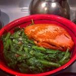 New Instagram: 我做的 鮭魚 + 大豆苗 + ponzu sauce #好吃 #美食 #煮飯 #鮭魚 #大豆苗 #菜 #做菜 #吃飯 #晚餐 #dinner #tasty #healthy #salmon #fish #vegetables #nomnom #noms #homemade #dinner