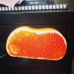 "New Instagram: hahaha awesome salmon roe caviar ""butterbrot"" magnet!!! @ivelum_group #funny #food #foodporn #magnet #hungry"